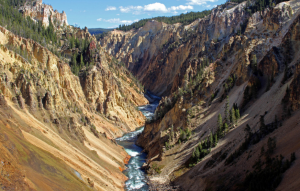 A canyon with the river