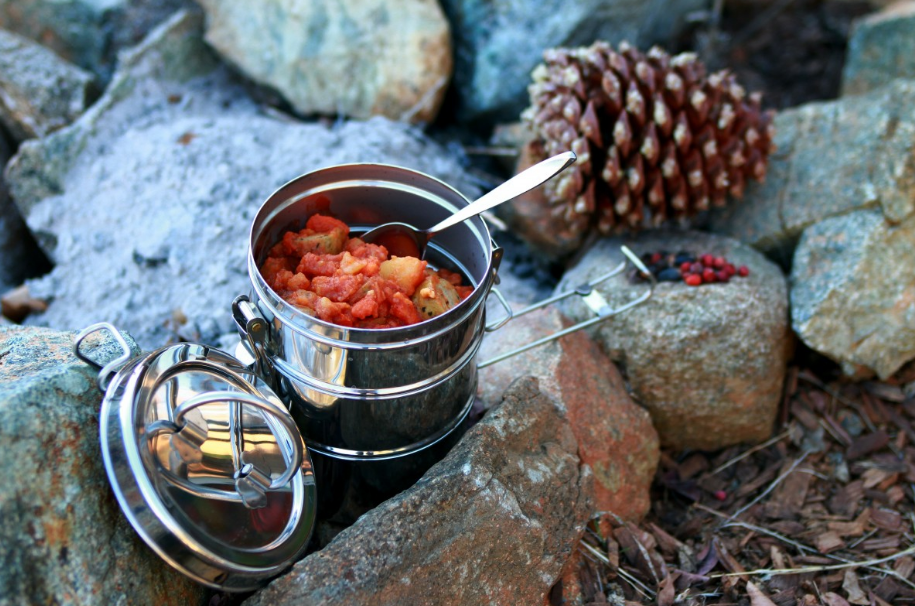 canned tuna, chicken and salmon are best choice for camping food