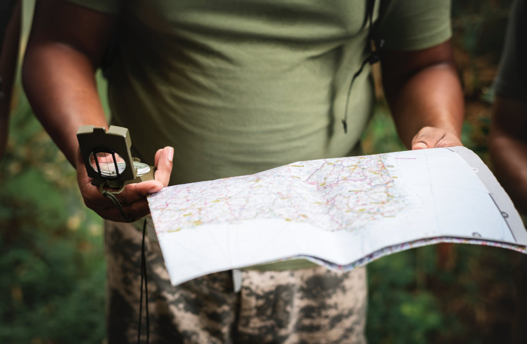 navigation map or compass