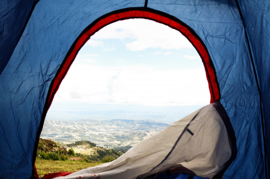 the material of a canvas tent is hard