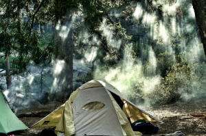 it's easy enough to find the right spot for your camping tent