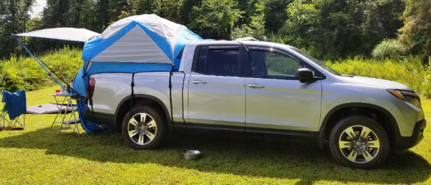 A truck tent in the nature