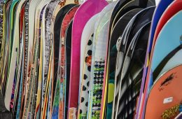 Different snowboards